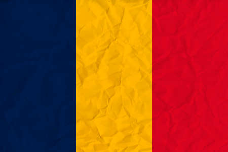 chad: Vector image of the Chad  paper  flag
