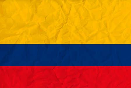 bandera de colombia: Imagen del vector de la bandera de papel de Colombia