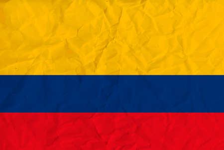 Vector image of the Colombia  paper  flag