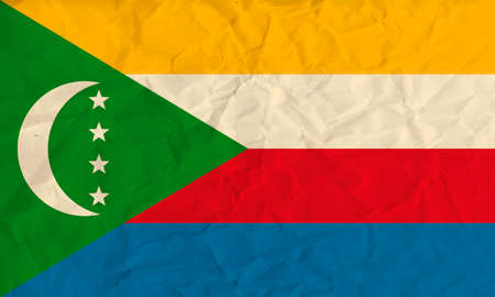 comores: Vector image of the Comoros  paper  flag