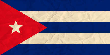 Vector image of the Cuba  paper  flag Illustration