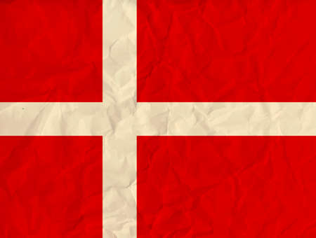 correctly: Vector image of the Denmark paper  flag Illustration