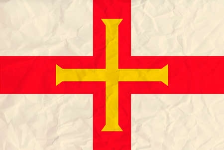 guernsey: Vector image of the Guernsey paper  flag