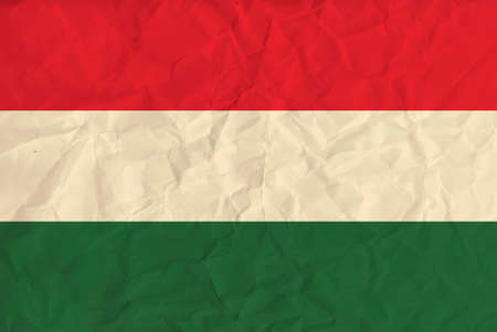 magyar: Vector image of the Hungary paper  flag