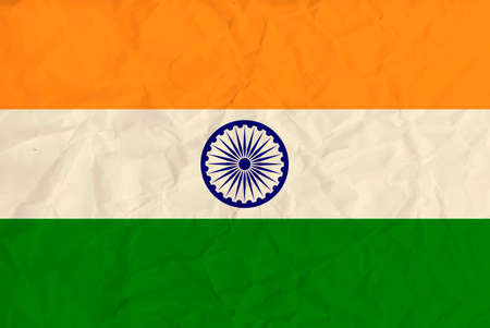 chakra symbol: Vector image of the India paper  flag Illustration