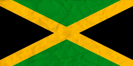 kingston: Vector image of the Jamaica  paper  flag