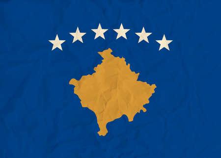 kosovo: Vector image of the Kosovo  paper  flag