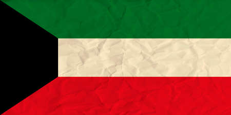 spangled: Vector image of the Kuwait  paper  flag