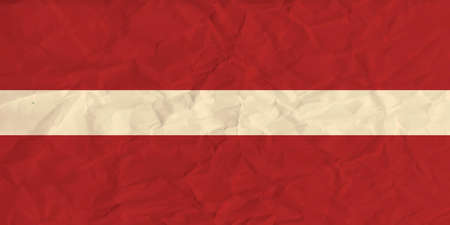 latvia: Vector image of the Latvia  paper  flag