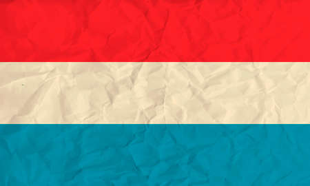 all european flags: Vector image of the Luxembourg  paper  flag