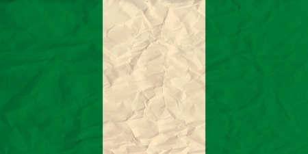anthem: Vector image of the Nigeria  paper  flag Illustration