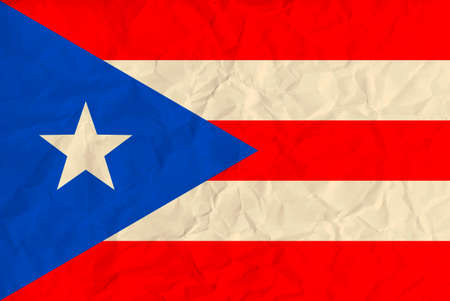 puertorico: Vector image of the Puerto-Rico paper  flag