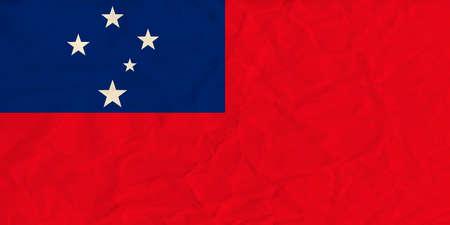 samoa: Vector image of the Samoa paper  flag