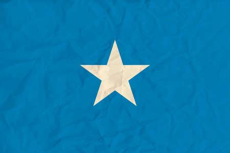 Vector image of the Somalia paper flag Vetores
