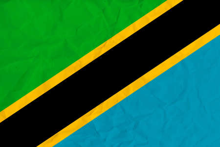 Vector image of the  Tanzania  paper  flag