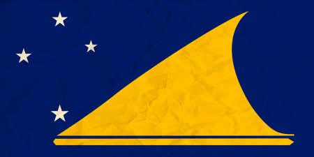 tokelau: Vector image of the  Tokelau  paper  flag Illustration