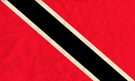 trinidadian: Vector image of the Trinidad and Tobago  paper  flag