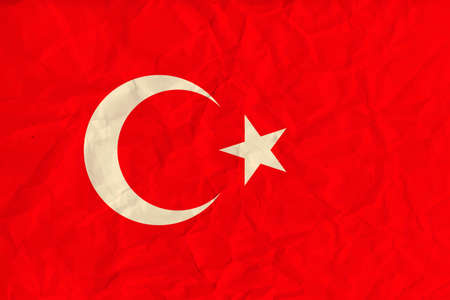 ethnical: Vector image of the Turkey  paper  flag
