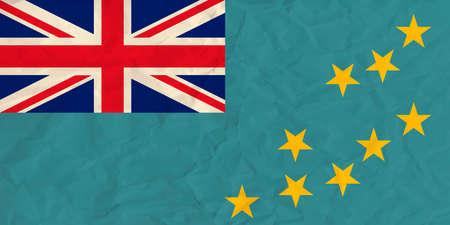 tuvalu: Vector image of the Tuvalu  paper  flag Illustration