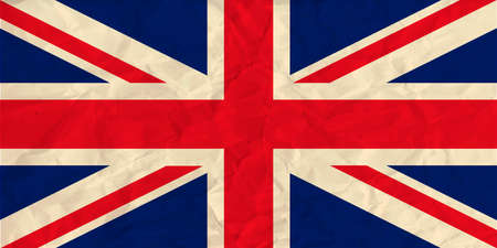 Vector image of the United Kingdom paper  flag