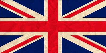 Vector afbeelding van het Verenigd Koninkrijk papier vlag Stock Illustratie