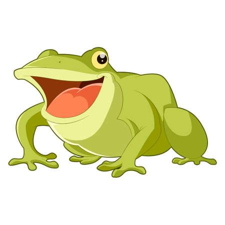 Funny Cartoon-Frosch. Malbuch Für Kinder Lizenzfrei Nutzbare ...
