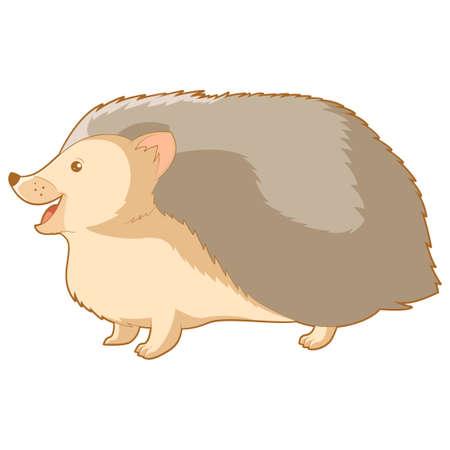 kiddish: Vector image of the Cartoon smiling hedgehog