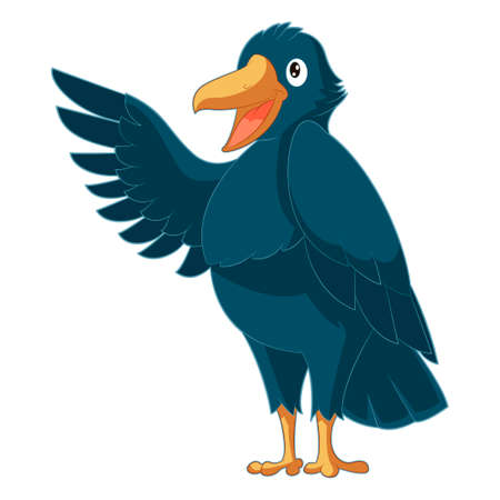 Vector image of the Greeting cartoon Crow