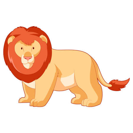 undomesticated: Vector image of the Cartoon smiling Lion