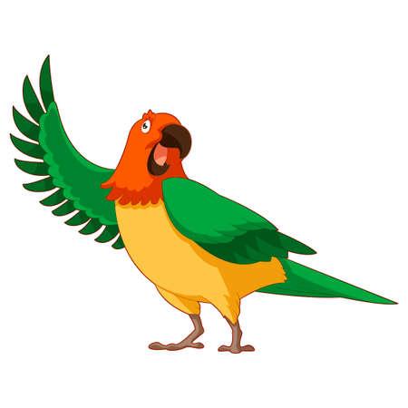 cartoon parrot: image of the  Cartoon Greeting Parrot