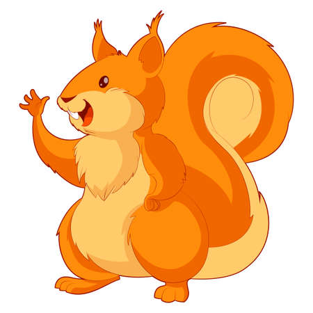 downy: image of the  Cartoon smiling Squirrel