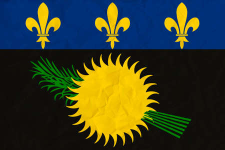 guadeloupe: Vector image of the Guadeloupe paper flag