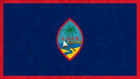 guam: Vector image of the Guam  paper flag