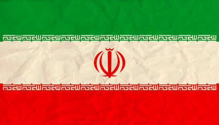 イラン紙旗のベクトル画像