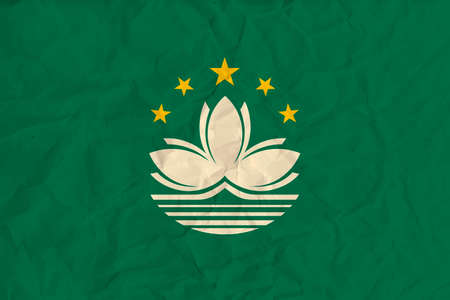 Vector image of the Macau  paper flag