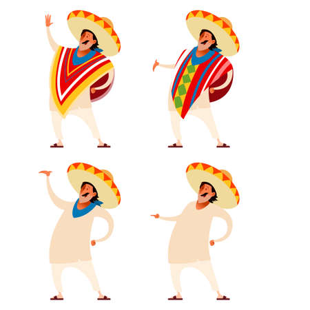 Vector image of the Set of Mexicans