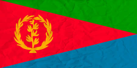 Vector image of the Eritrea  paper flag