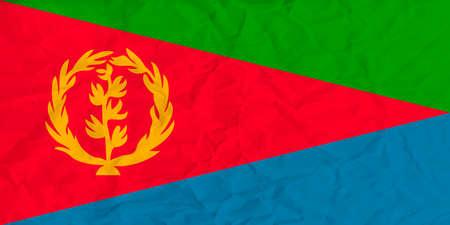 eritrea: Vector image of the Eritrea  paper flag