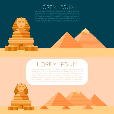 khafre: Vector image of the Set of Egypet banners