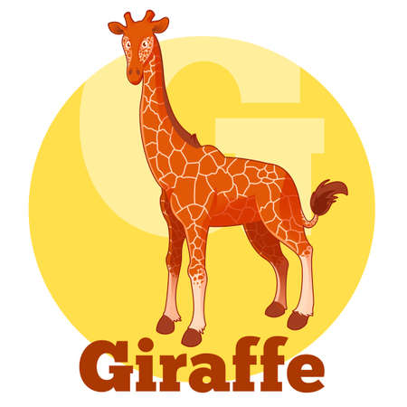 camelopard: Vector image of the ABC Cartoon Giraffe Illustration