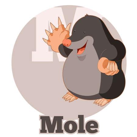 pronunciation: Vector image of the ABC Cartoon Mole