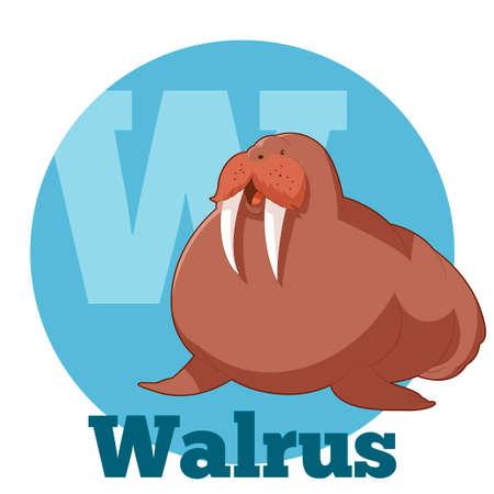 walrus: Vector image of the ABC Cartoon Walrus