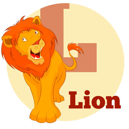 lion cartoon: Vector image of the ABC Cartoon Lion3 Illustration