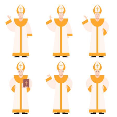 Vector immagine del set di papi