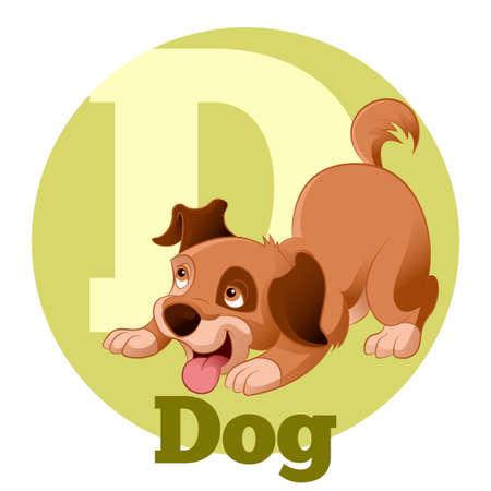 Imagen del vector de la historieta ABC ABC Dog4