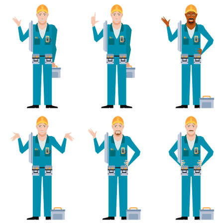 repairman: Vector image of the Set of Electricians