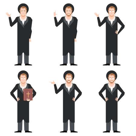 jews: Vector image of the Set of Jews Illustration