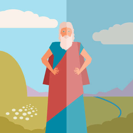 slavery: Vector image of the moses Jew Banner