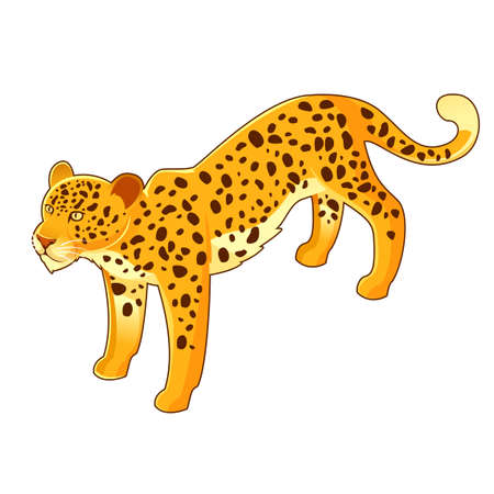 Vector image of the Isometri leopard icon Illustration