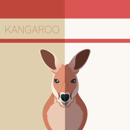 Vector image of the Kangaroo flat postcard